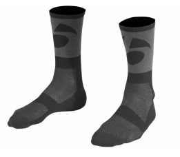 Bontrager Race Wool 7 Cuff Sock Black Maat=46-48 (x-large)