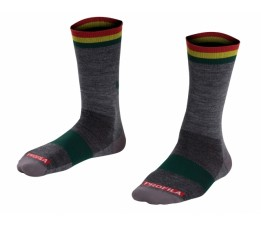 Bontrager Race 5 Wool Sock Rasta Paw Maat=36-39 (small)