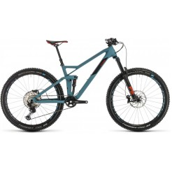 Cube Stereo 140 Hpc Race 27.5 Blugry/red 2020, Bluegrey/red