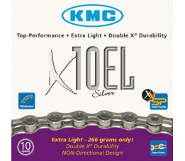 Kmc Ketting  11/128 X10el 114l 10sp Zilver Extra Light