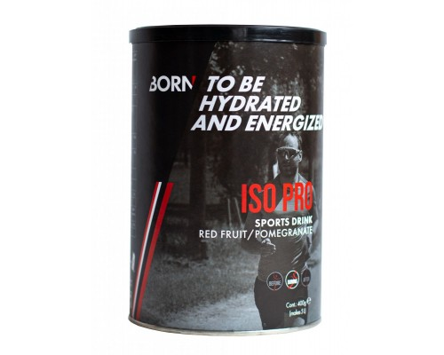 Born Sports Drink Iso Pro Red Fruit/pomegranate 400gr.